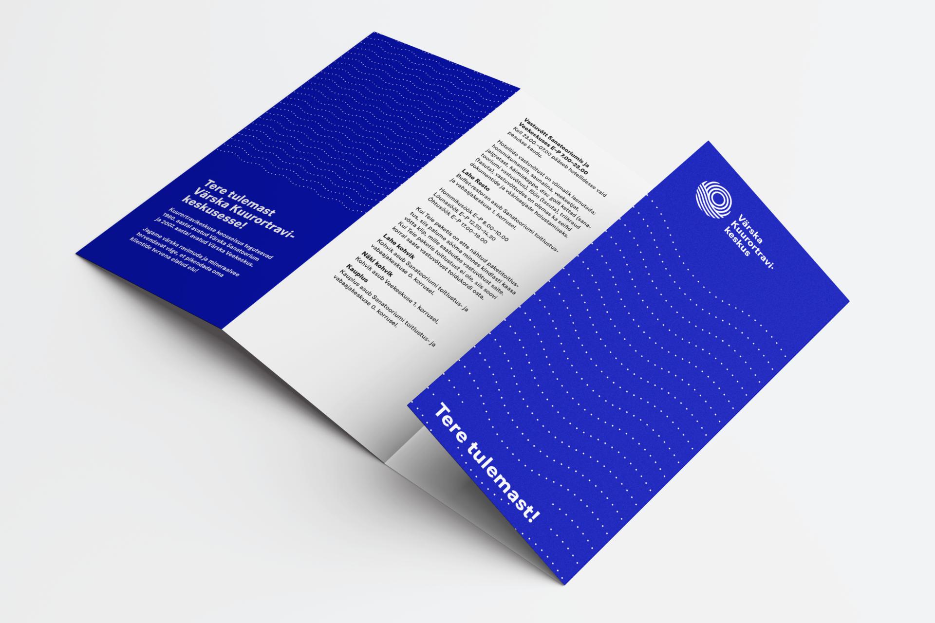 Logo ja visuaalne identiteet rebranding - Värska Kuurortravikeskus