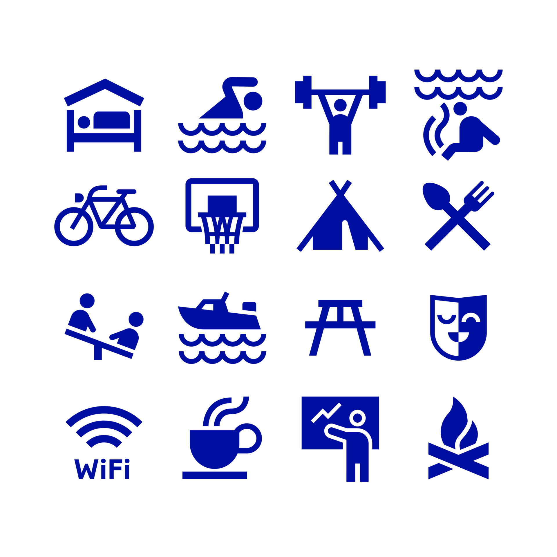 Logo ja visuaalne identiteet rebranding - Piktogrammid - Värska Kuurortravikeskus