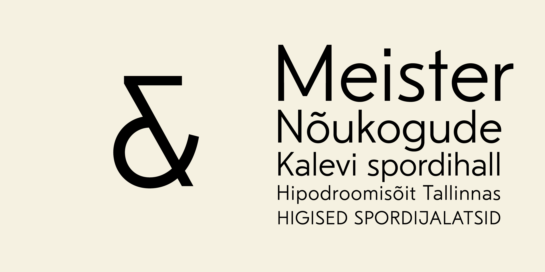 Kirjatüüp ja font - Kalev Grotesk